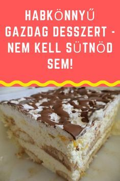 "Ez a recept saját ""találmány"". Fergetegesen finom, üdítő desszert. A megkóstolja, az biztos kér még belőle."" #recept #desszert Tiramisu, Food And Drink, Cookies, Cake, Ethnic Recipes, Foods, Bulgur, Biscuits, Pie Cake"