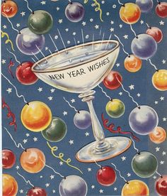 "vignette design: My Favorite NYE Toasts-""Cheers to you, Cheers to me, Have a Happy New Year's Eve."""