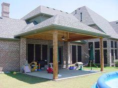 Backyard porch ideas covered decks diy Ideas for 2019 Backyard Covered Patios, Covered Decks, Backyard Patio Designs, Pergola Patio, Pergola Plans, Patio Ideas, Porch Ideas, Pergola Kits, Pergola Ideas