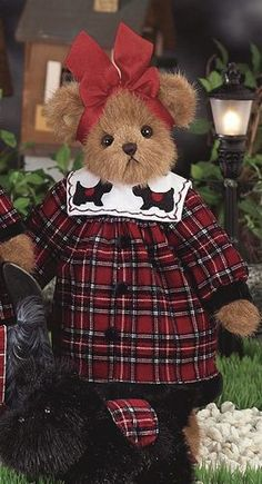 A Tartan Christmas Tartan Christmas, Christmas Teddy Bear, My Teddy Bear, Cute Teddy Bears, Teady Bear, Country Bears, Boyds Bears, Love Bear, Bear Doll