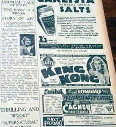 At the Movies: King Kong King Kong 1933, King Kong Vs Godzilla, Fay Wray, Merian, Horror Movies, Science Fiction, The Incredibles, Romantic, News