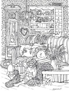 Adult Color Art Maggies World Pen Drawing Print To Or FRAME Signed