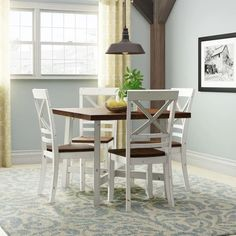 Beautiful Dunnes 5 Piece Dining Set Kitchen Dinings Room Furniture from top store Nook Dining Set, Solid Wood Dining Set, Small Dining Sets, Counter Height Dining Table, Dining Furniture, Kitchen Dining Sets, Home Decor, Kitchen Dining Room, Dining Room Furniture