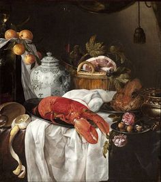 Title: Pronk still life with lobster, (1650-1654)  Artist: Jasper Geeraards, (1620 – between 1649-1654)  Image Credit: https://commons.wikimedia.org/wiki/File:Jasper_Geeraerts_-_Pronk_still_life_with_lobster.jpg