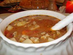 Manhattan style clam chowder