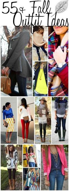55+ Fall Outfit Ideas, super cute clothing inspiration for fall! Pinned over 2,730 times!! by janis