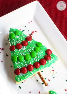 Christmas Tree Sugar Cookie Bars