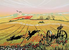 Rob Barnes - Hares In A Poppy Field