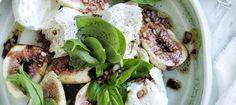 Salade figues-mozzarella au basilic