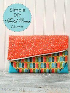 DIY Foldover Clutch Tutorial - Sew Pretty Sew Free