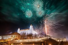 Bratislava, another winter destination, boasts a New Year's full of dance parties in the streets and fireworks over the Danube River. (Photo Source: Visit Bratislava)