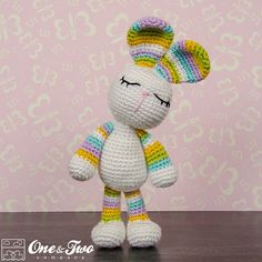 Olivia the Bunny Amigurumi PDF Crochet by oneandtwocompany
