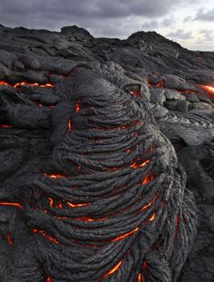 Lava - a never to come true dream of mine is to ride a canoe down a lava river. Crazy I know, it came to me during a college geography class.