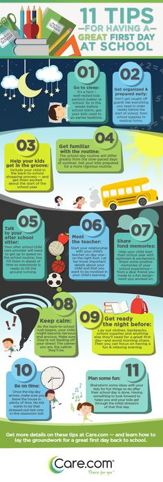 11 tips on how to make the first day back to school as fun and easy as possible