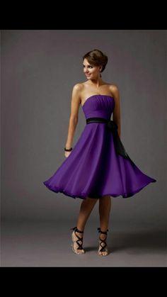 Simple Short Bridesmaid Dress