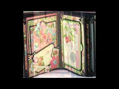 Graphic 45 Botanical Tea mini scrapbook photo album - YouTube