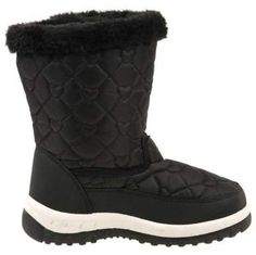 32e8a790a886b Rugged Bear Heart Shaped Quilted Detail Girls  Snow Boots