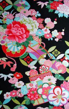 Japanese antique kimono pattern