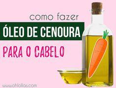 Como fazer, benefícios e como usar óleo de cenoura caseiro para o cabelo crescer mais rápido.