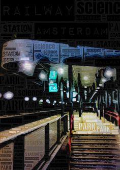 Amsterdam science park railway station by borisbschulz2009, via Flickr
