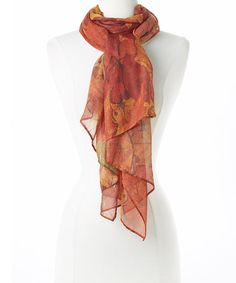 Another great find on #zulily! Orange Aumtumn Leaves Scarf by David & Young #zulilyfinds