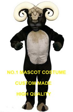 >> Click to Buy << black ram mascot costume wholesale high quality cartoon ram bighorn theme anime cosplay costumes carnival fancy dress kits 2775 #Affiliate
