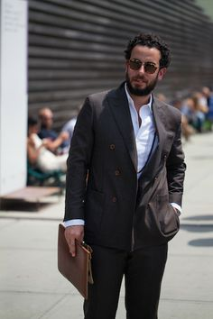 Cherrywood Brown suit http://four-pins.com/style/pitti-uomo-86-street-style-day-2-2/