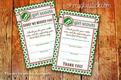 It's Cookie Time! {FREE} Girl Scout Cookie Delivery Receipts