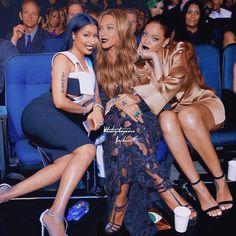 Nicki Minaj, Beyonce and Rihanna Mode Rihanna, Rihanna Fenty, Rihanna Fashion, Divas, Black Girl Magic, Black Girls, Beyonce Nicki Minaj, Beyonce Beyonce, Nicki Minaj Pictures