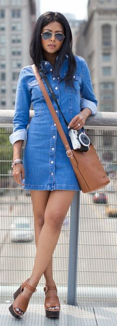 Western Denim Dress by Walk In Wanderland