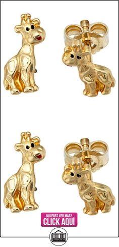 Pendientes jirafa{333} de oro negro pintado en rojo aretes para niños  ✿ Joyas para niñas - Regalos ✿ ▬► Ver oferta: https://comprar.io/goto/B009G3ZA5M