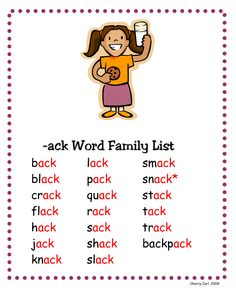 ... Family http://www.docstoc.com/docs/5887567/-ack-Word-Family ... More