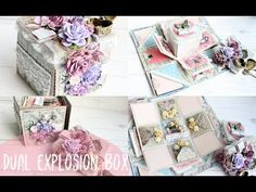 Romantic DUAL Explosion Box Love Themed Tutorial | How To Do | Instructions - YouTube
