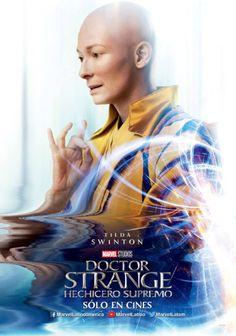El Puffs. #DrStrange  Hechicero supremo posters promocionales de los personajes. #TildaSwinton #Marvel