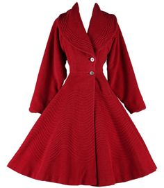1940s Fitted Navy Blue Wool Coat - Vintage Fifth Avenue New York ...