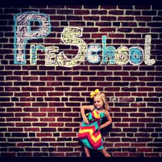 First Day of School Picture ideas. I love the idea But I would have to write grades all around my house.