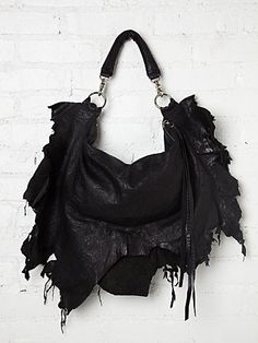 Ridge Ripped Tote #leather #bag #distressed #style
