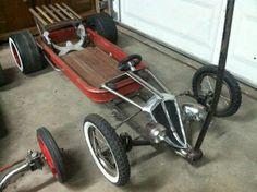 Not a Radio Flyer, but a start to a rat rod lowered slammed swap meet custom wagon