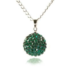 Fizzball Collection Lemonade Crystal Ball Necklace Green - 4EverBling