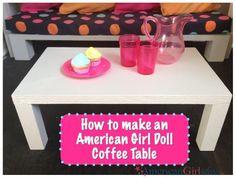 American Girl Coffee Table: Living Room Set Series Part 4