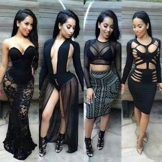 All black #Style #Fashion #Fashiononfleek