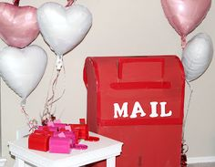 mail post office party for valentines day