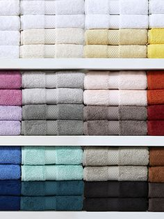 Each piece is finished with a beautiful woven dobby and is available in a variety of colors.,Bring the luxury of Europe to your home with these,towels.