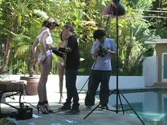 Adam Saaks Ed Hardy Cutting Couture Fashion Photo Shoot at Tom Greens House