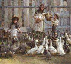 Morgan Weistling - Feeding the geese