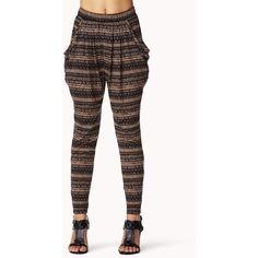 FOREVER 21 Tribal Print Harem Pants ($18) ❤ liked on Polyvore