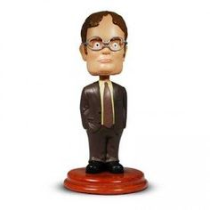 The Office: Dwight Schrute Bobblehead. Looks Like Dwight Schrute From The Office!!!. Comes On A Quality Stand. Collectible Box With A Message From Dwight.