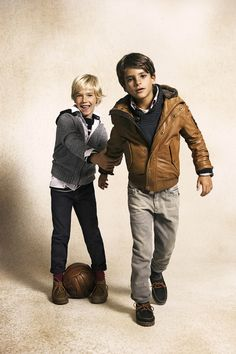 Boys fall-winter fashion style. Casual dress kid outfit.
