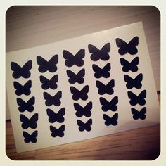 Butterfly Nail Decals Set of 50 by MakeitStickDesigns on Etsy, $5.00