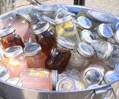 For an outdoor party. Instead of having to pour drinks out of pitchers, just have them pre-poured into mason jars with lids. After they open them provide straws and cupcake liners to keep the bugs out.